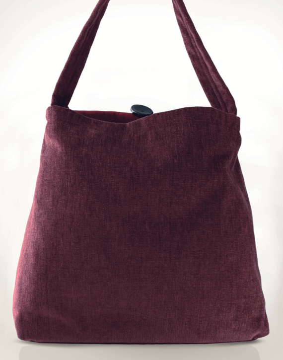 Mother Hen Large Tote Bag Velvet Plum back - Julie London Design