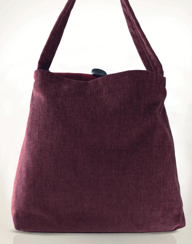 Mother Hen Large Tote Bag Floral Velvet back - Julie London Design