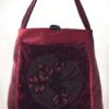 Mother Hen Large Tote Bag Floral Velvet front - Julie London Design