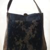 Mother Hen Large Tote Bag Black Gold front - Julie london design