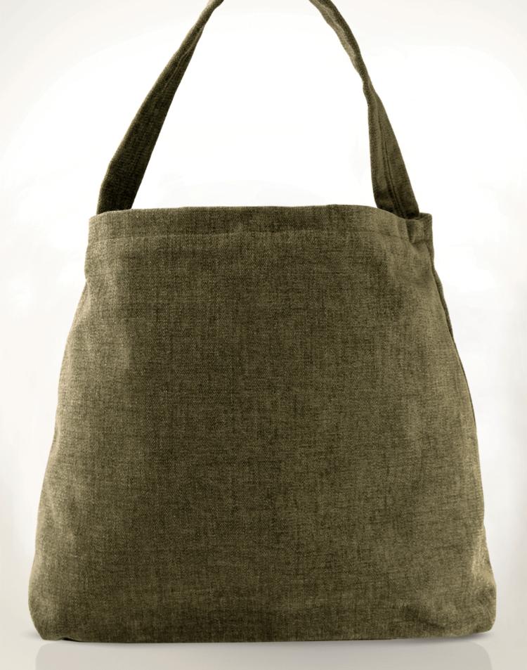 The Mother Hen Large Tote Bag Velvet Lilly back - julie London Design