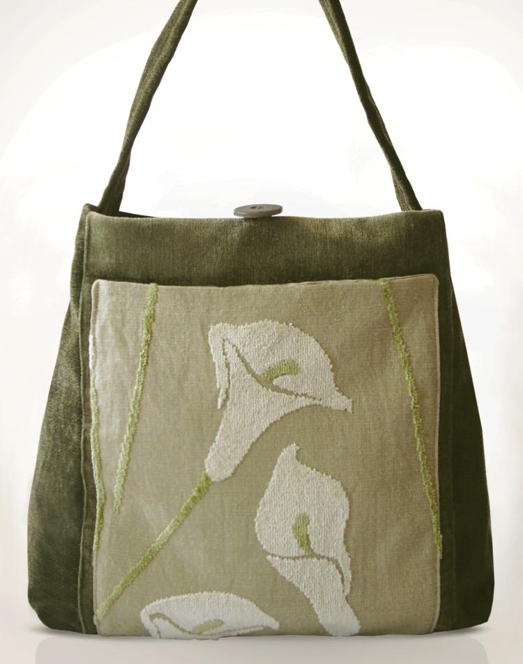 The Mother Hen Large Tote Bag Velvet Lilly front - julie London Design