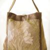 Mother Hen Large Tote Bag Cream Tulip front - Julie London Design