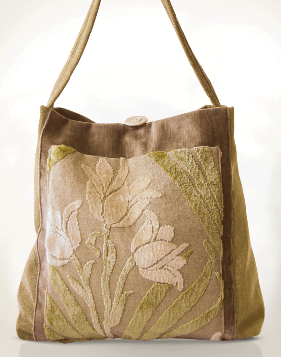 Mother Hen Large Tote Bag Cream Tulip front – Julie London Design