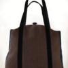 Butterfly Tote Handbag Midnight Blue Brown back - Julie London Design