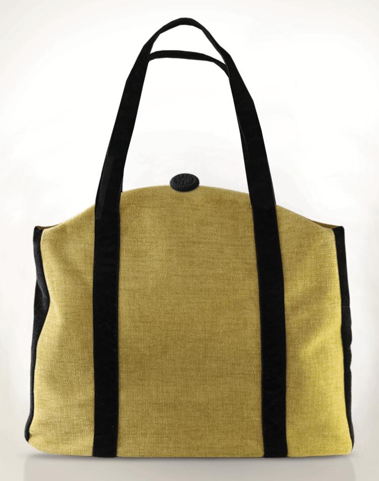 Butterfly Handbag Lemon Floral back - Julie London design