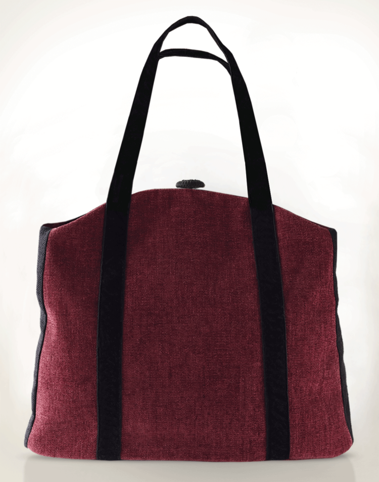 Butterfly Tote Handbag Raspberry Pink back - Julie London Design