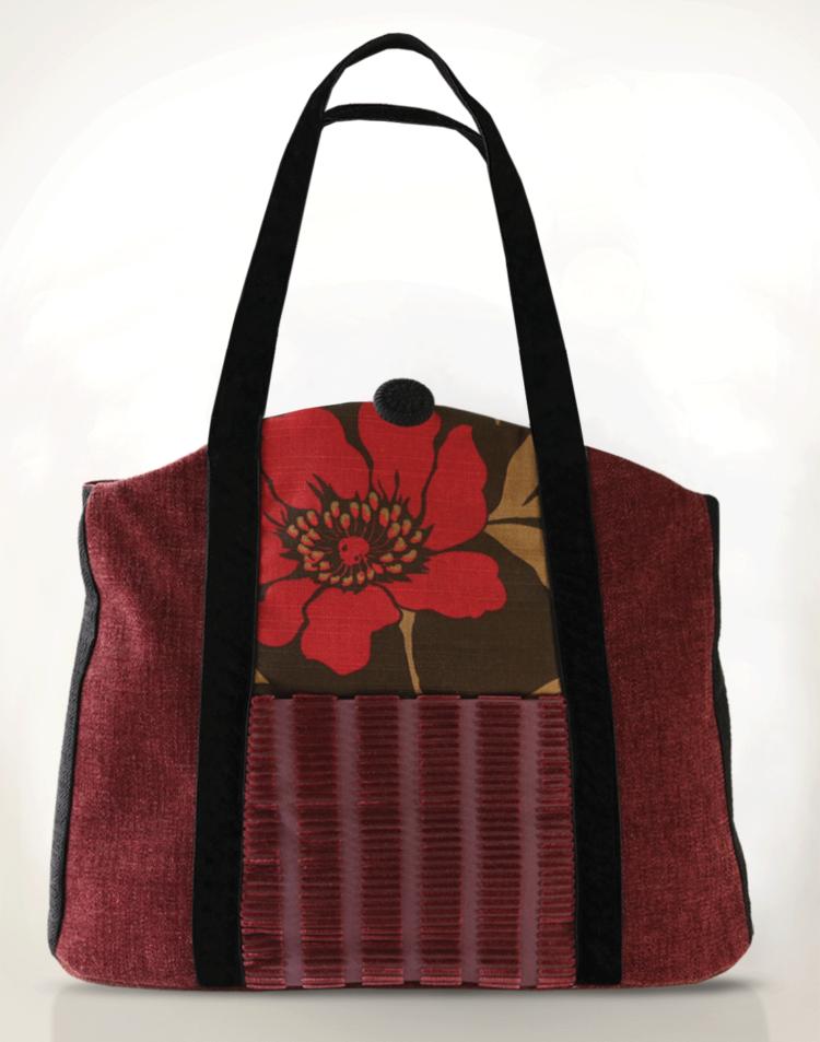 Butterfly Tote Handbag Raspberry Pink front - Julie London Design